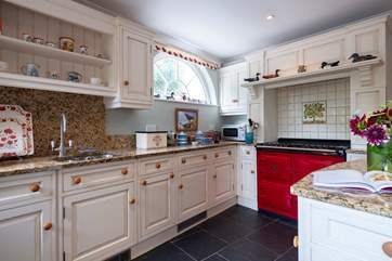 Plenty of space for preparing family meals in the kitchen.
