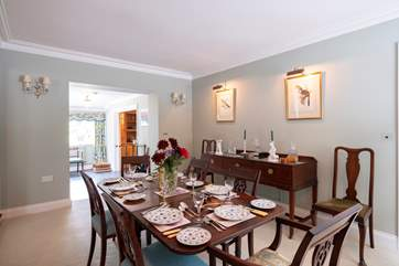 Celebratory dinners will be enjoyed in the elegant dining-room.