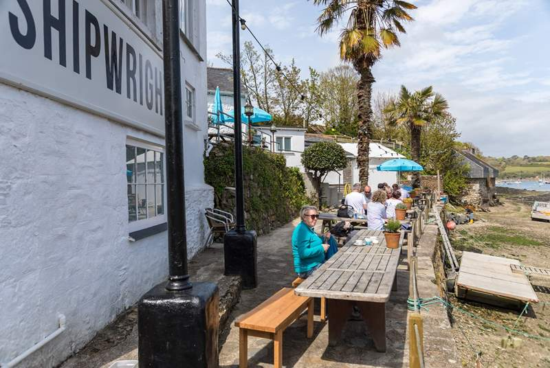 The Shipwright Arms at Helford village is worth a visit.