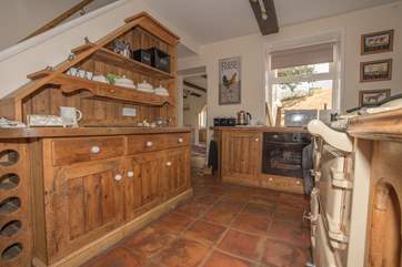 The country style kitchen with Aga