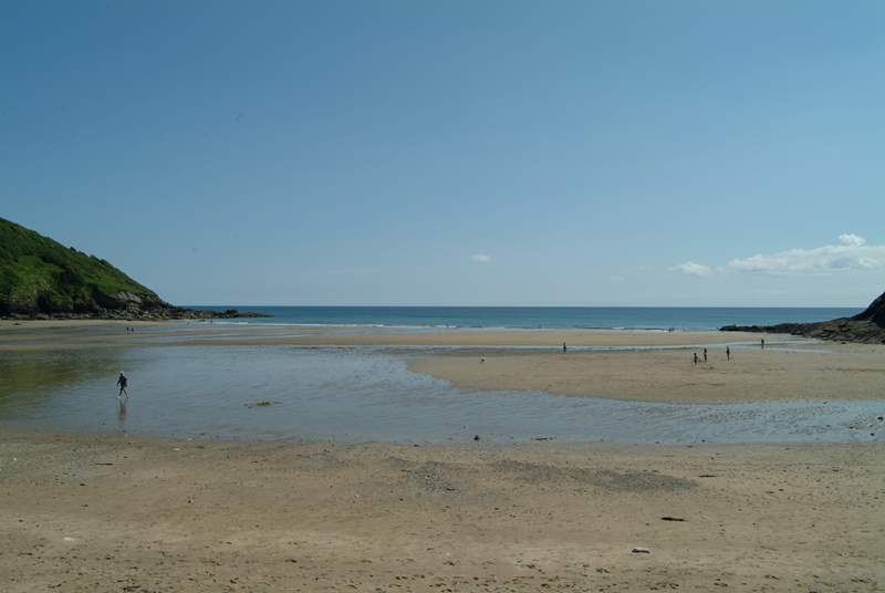 Porthluney Beach at Caerhays.