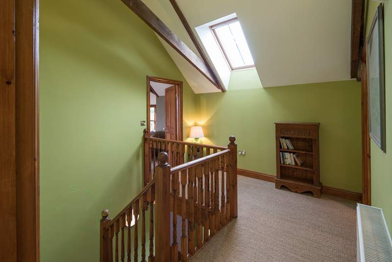 The upstairs landing perfects the flowing feel of the open plan arrangement.