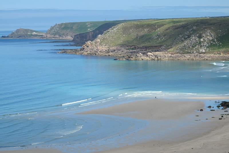 Sennen Cove is great for surfing, swimming and, of course, walking.