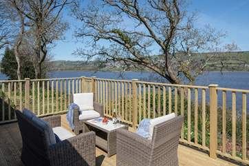 Beautiful views from the decking from every angle.