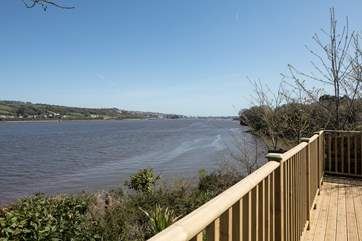 Stunning views up the River Teign from your private and secluded decking.
