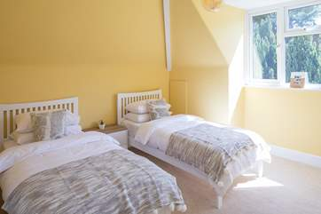 Bedroom 4 is a light and airy twin room.
