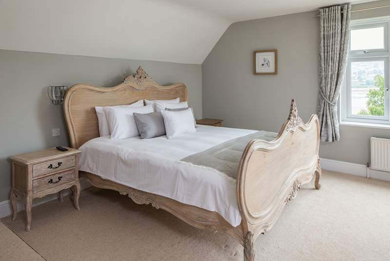 The master bedroom offers the most amazing super-king size bed. (Bedroom 2)