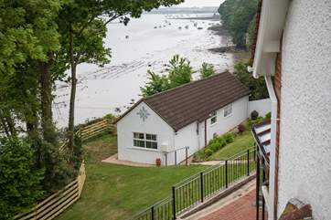 Cliff Top Cottage nestles perfectly in the corner of the grounds.