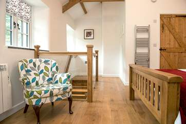 There are lovely wooden floors throughout the cottage.