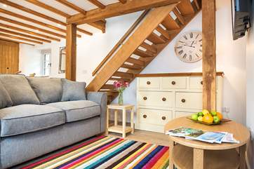 Snuggle up on the comfy sofa at the end of an exciting day exploring the delights of south east Cornwall.