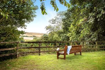A lovely spot on the owners' land to sit with a good book and enjoy the view.