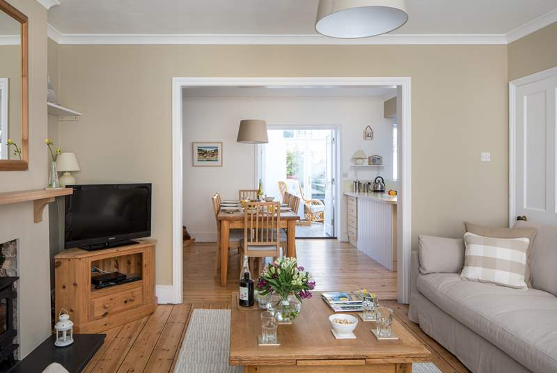 This spacious family home is light and bright, the open plan design has space for all the family.