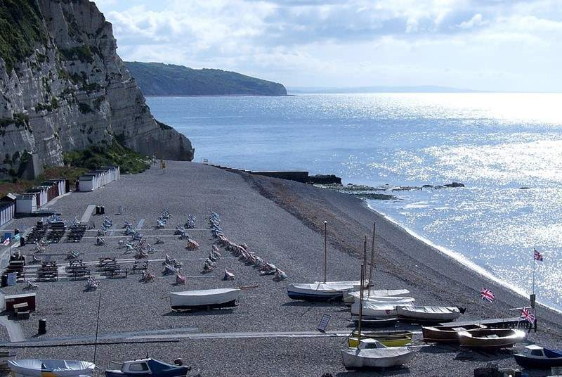 Beer beach, the focus of the village, a short walk from Kephalo.
