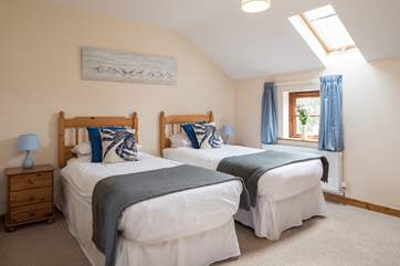 What a delightful twin room. Perfect for children and adults alike.