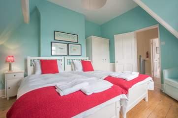 The second floor twin bedroom.