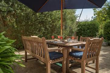 With the patio and separate garden area, the little ones are sure to have lots of fun here.