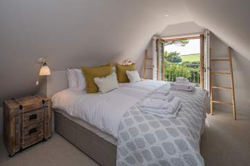 Bedroom 3 is stunning. This super-king size bed just makes you want to dive straight in.