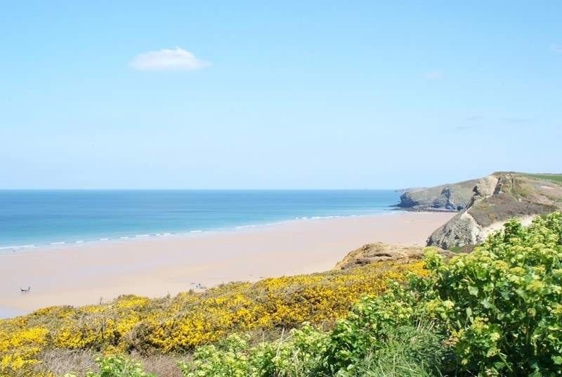 The sandy beach at Mawgan Porth is a short drive away, and is terrific all year round.
