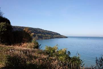 Just a short distance away you will find these wonderful views over Totland Bay.