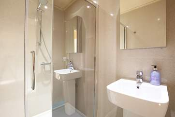 This shower-room is located on the lower ground floor.