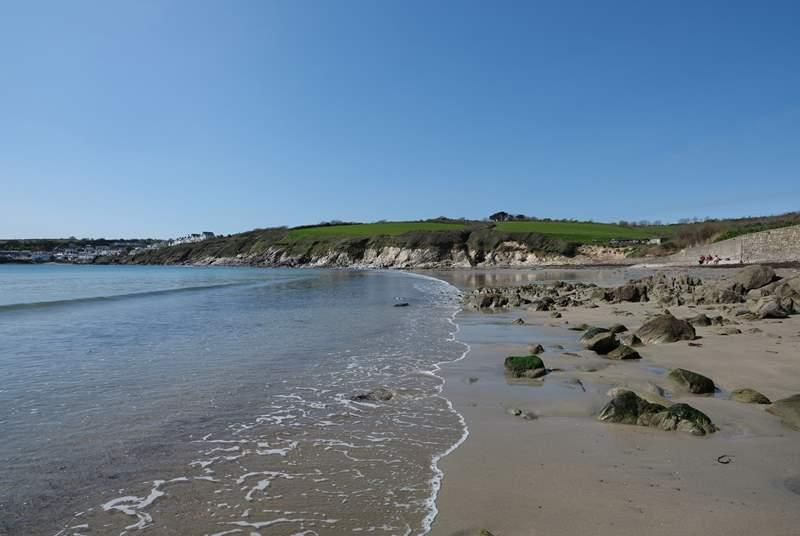 Porthcurnick Beach is a short walk down the lane.
