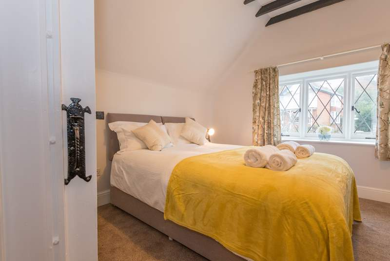 Bedroom one has a zip and link king-size or twin beds and is situated on the first floor to the front of the property