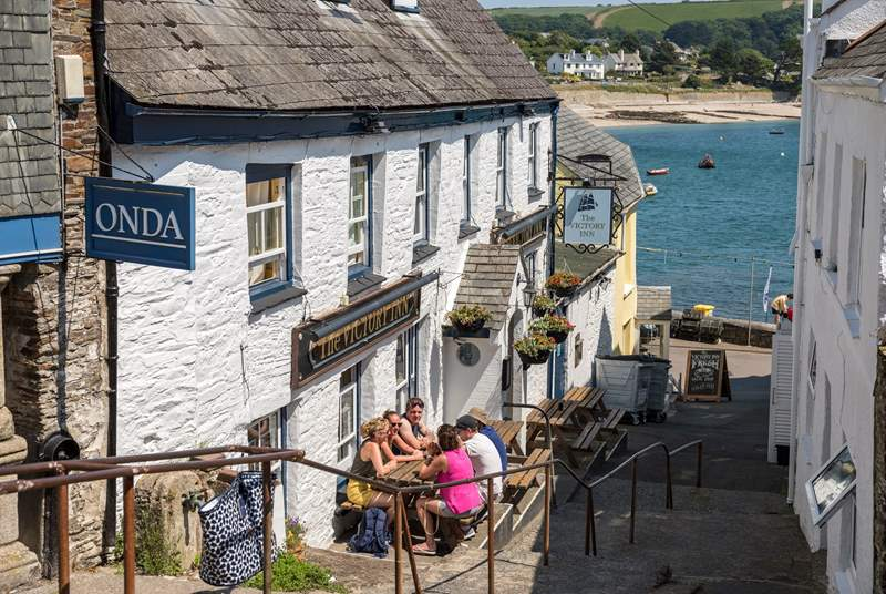 Enjoy a pint and a pasty in the local pub.