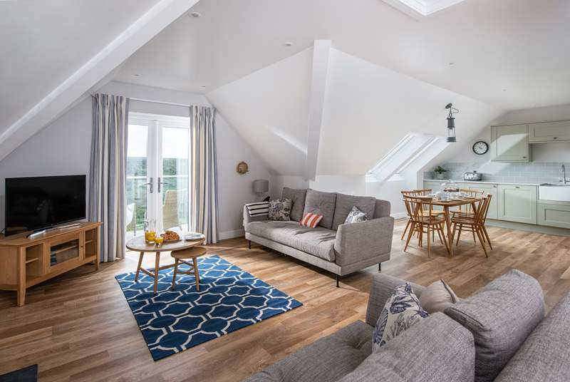 Enjoy the views from the open plan living space.