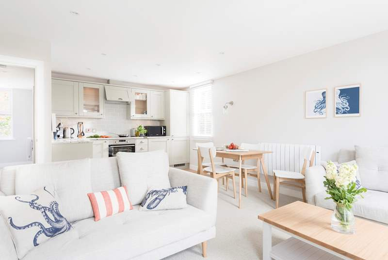 An example of the open plan living, light and bright.