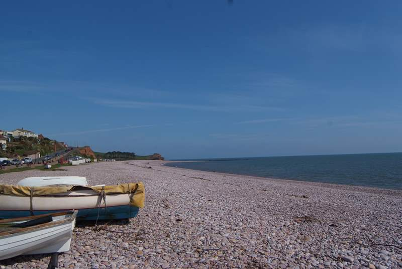 Another view of the beach at Budleigh Salterton - you can follow the South West Coast Path from here.
