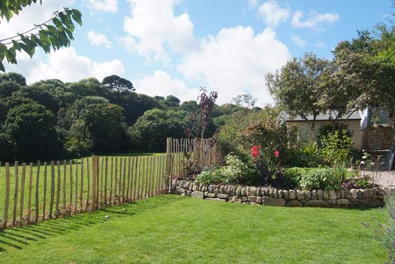 The lovely garden.