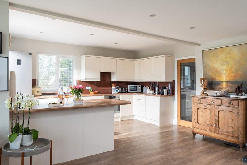 The open plan kitchen is well thought-out.