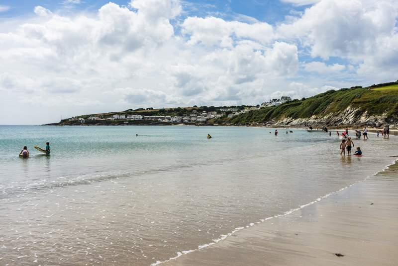 One of the beautiful beaches on the Roseland.