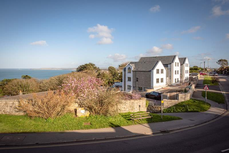 The stunning development, with sea views!