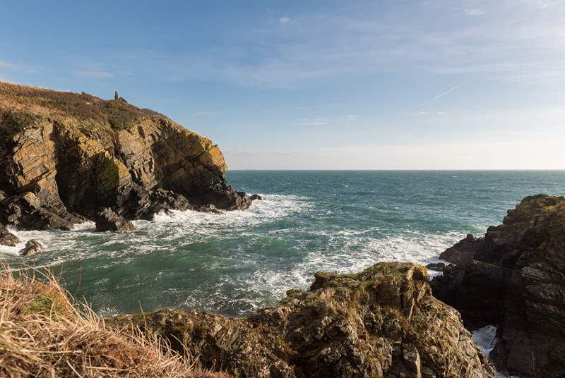 Rugged coastline at Cadgwith.