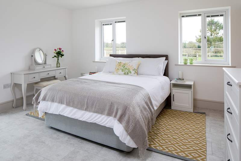 Bedroom 1 is on the ground floor, with a super comfy 5ft king-size bed and en suite shower-room.