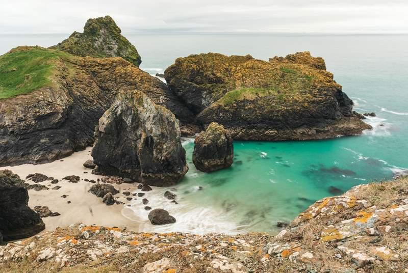 Beautiful Kynance Cove, a must-visit.