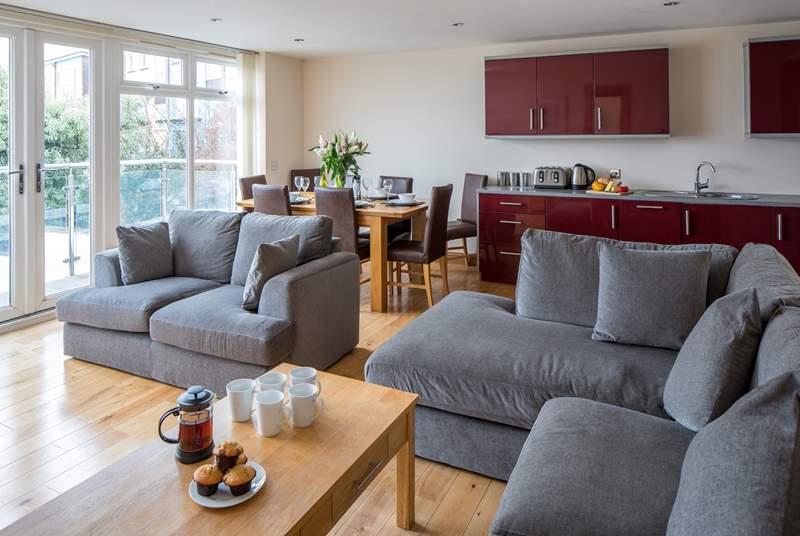 Anzac offers a wonderful open plan living area.