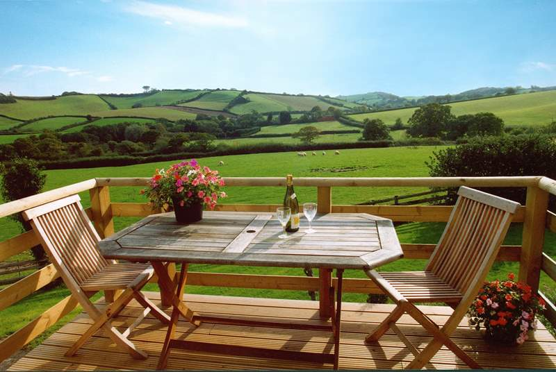 The view is simply stunning! Enjoying a spot of dining al fresco is a must in this glorious spot.