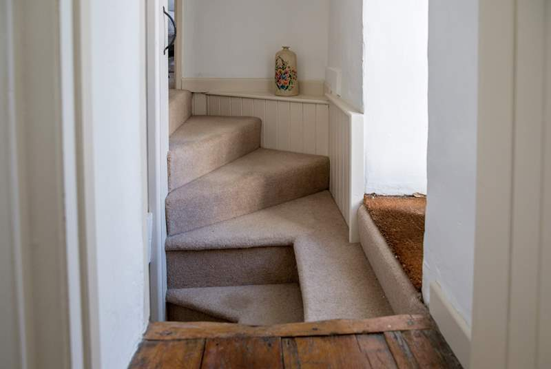Please take care when manoeuvring around at the top of the stairs.