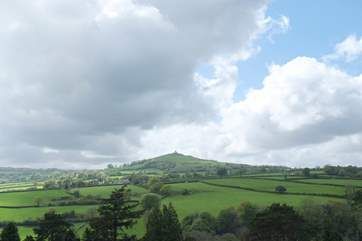 The nearby landmark of Brentor with the church perched on the top of a hill - visible for miles.