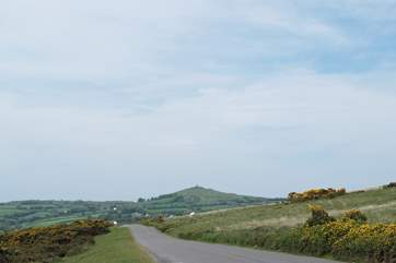 Another lovely view of Brentor church in the distance.