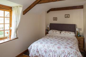 The pretty master bedroom is home to a super comfortable 5ft double bed.