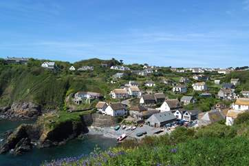 Cadgwith Cove, still a thriving working fishing village.