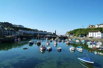 Porthleven's picturesque harbour.
