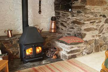 The wood-burner will keep you warm on those cooler nights.
