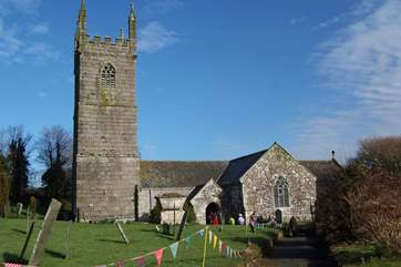 The pretty church at Mawgan.