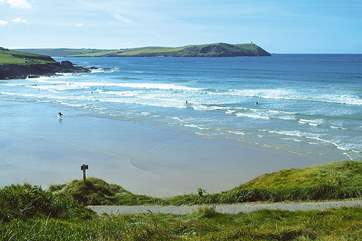 Polzeath is a surfers' paradise and is just around the headland from Daymer Bay,