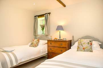 One of the twin bedded rooms