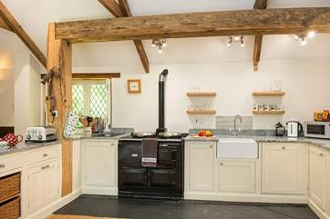 The lovely Mill kitchen complete with a gorgeous Aga
